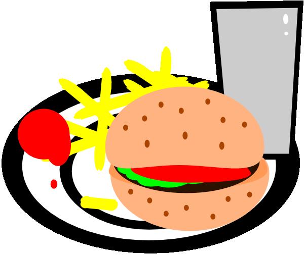 png transparent library Burger and fries clip. Cheeseburger clipart cartoon.