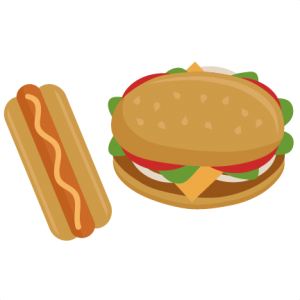 free library Hamburger clipart cute. And hot dog svg