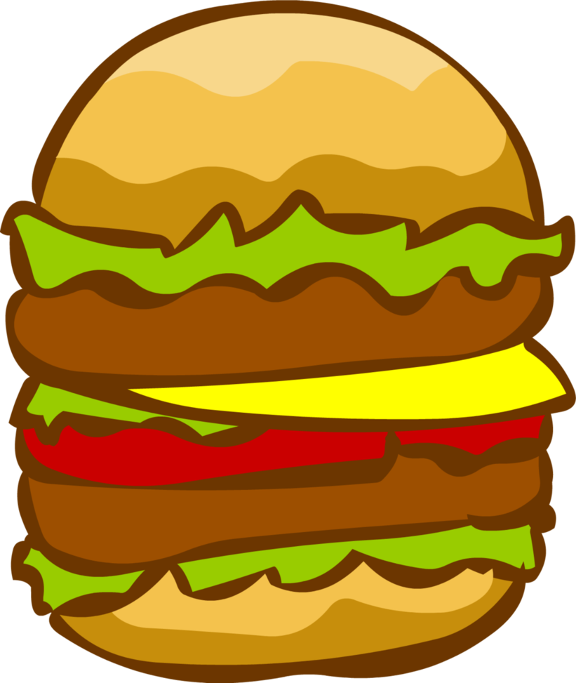 clip art freeuse library cheeseburger drawing double #110518912
