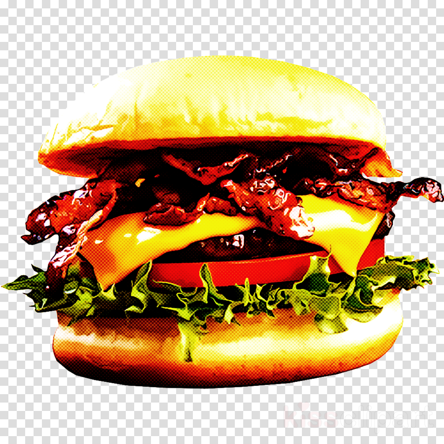 image transparent Cheeseburger transparent. Hamburger clipart food .