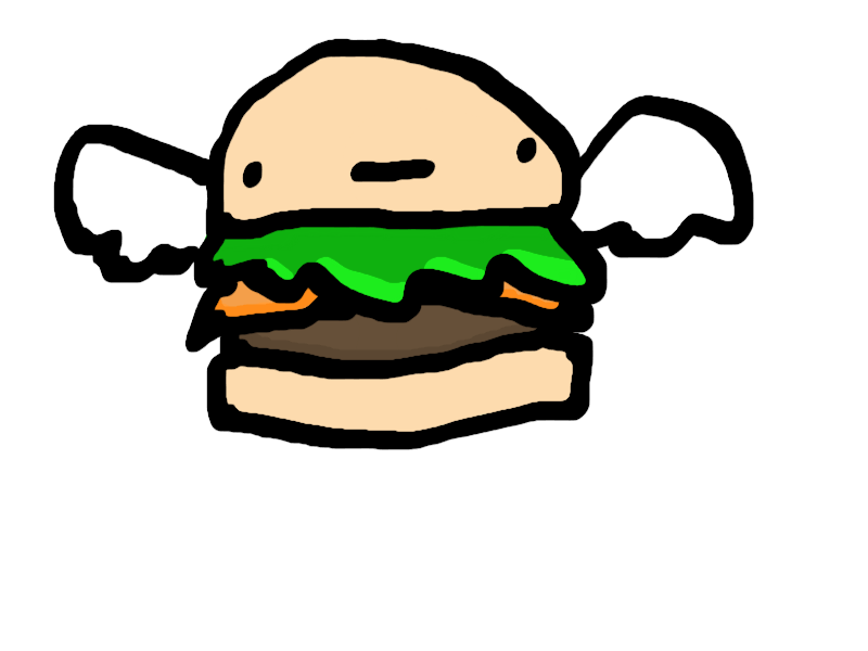 banner royalty free Flying Burger by BeanMelon on DeviantArt
