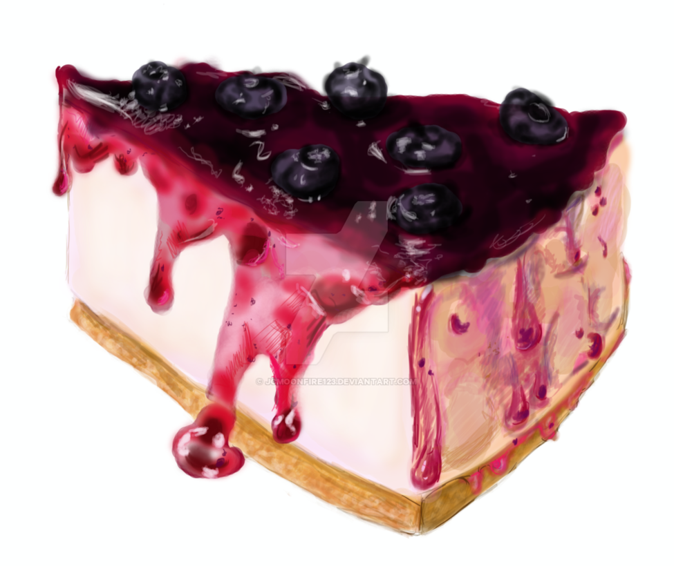 picture freeuse library Blueberry by jcmoonfire on. Cheesecake drawing