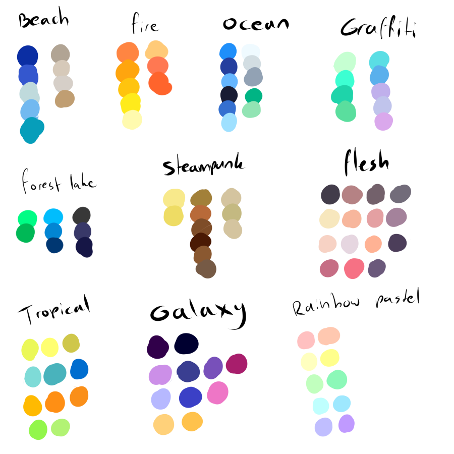 banner stock Free To Use Color Pallettes by ShadowInkAdopts