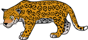clipart transparent library Clip art at clker. Cheetah clipart.