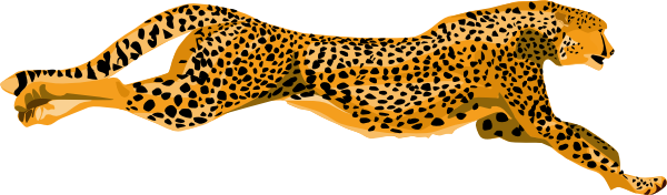 svg royalty free Cheetah clipart. Free running.