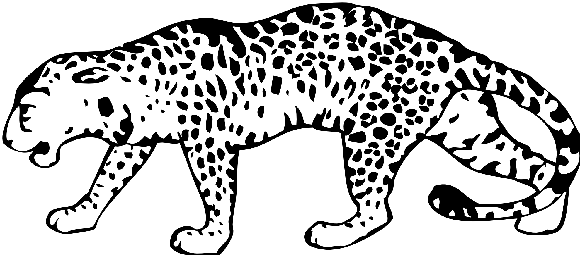 transparent library Leopard PNG Black And White Transparent Leopard Black And White