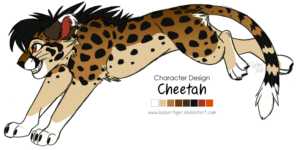 clip royalty free Cheetah clipart cheetah cub. Character design by kaisertiger.