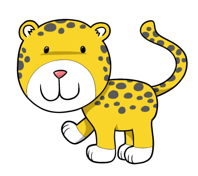 svg freeuse download Cheetah clipart cheetah cub. Smiling wall decal wallmonkeys.