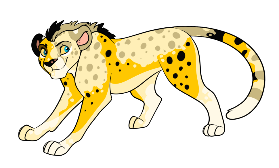 picture free library Pied closed by points. Cheetah clipart cheetah cub.