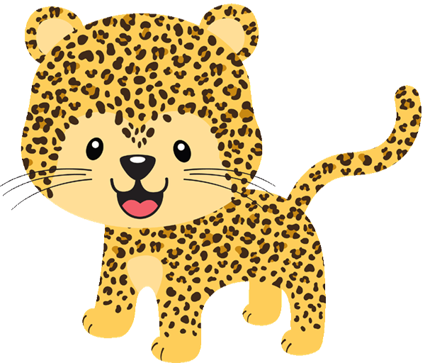 freeuse library Leopard clipart cheetahclip. Transparent background free on.