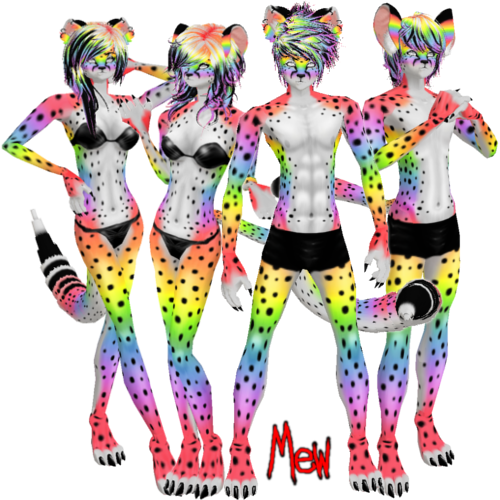 picture Imvu furset by lonelycard. Cheetah clipart rainbow.