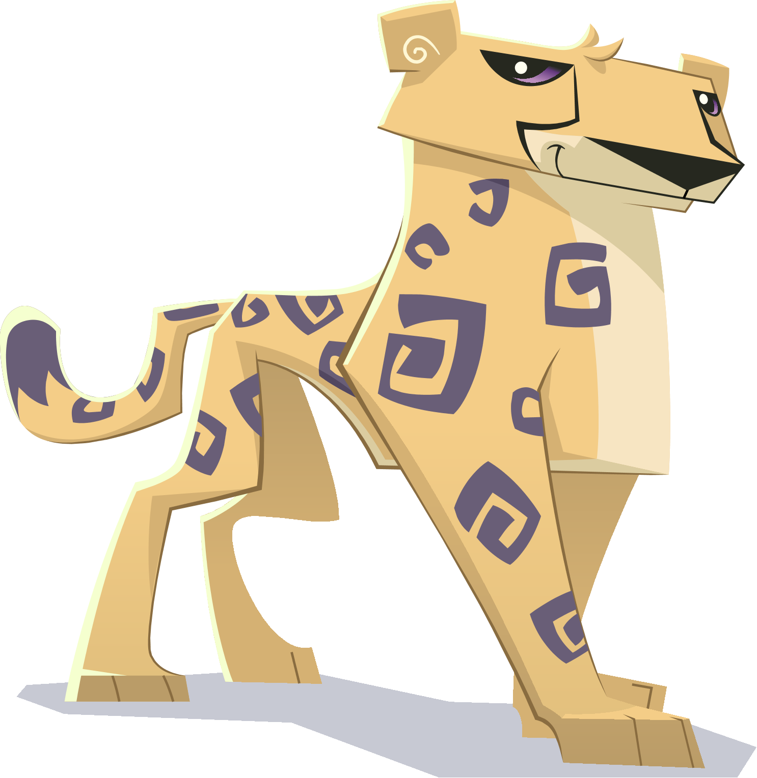 svg black and white cheetah transparent animal jam #110532167