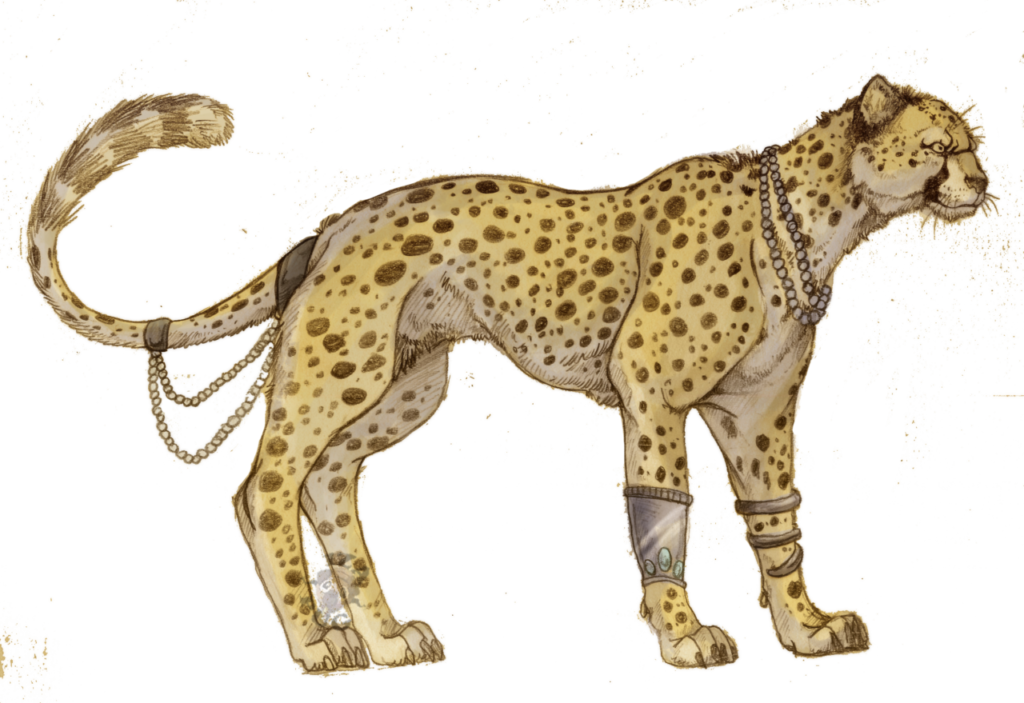 clip art black and white stock Cheetah PNG Picture