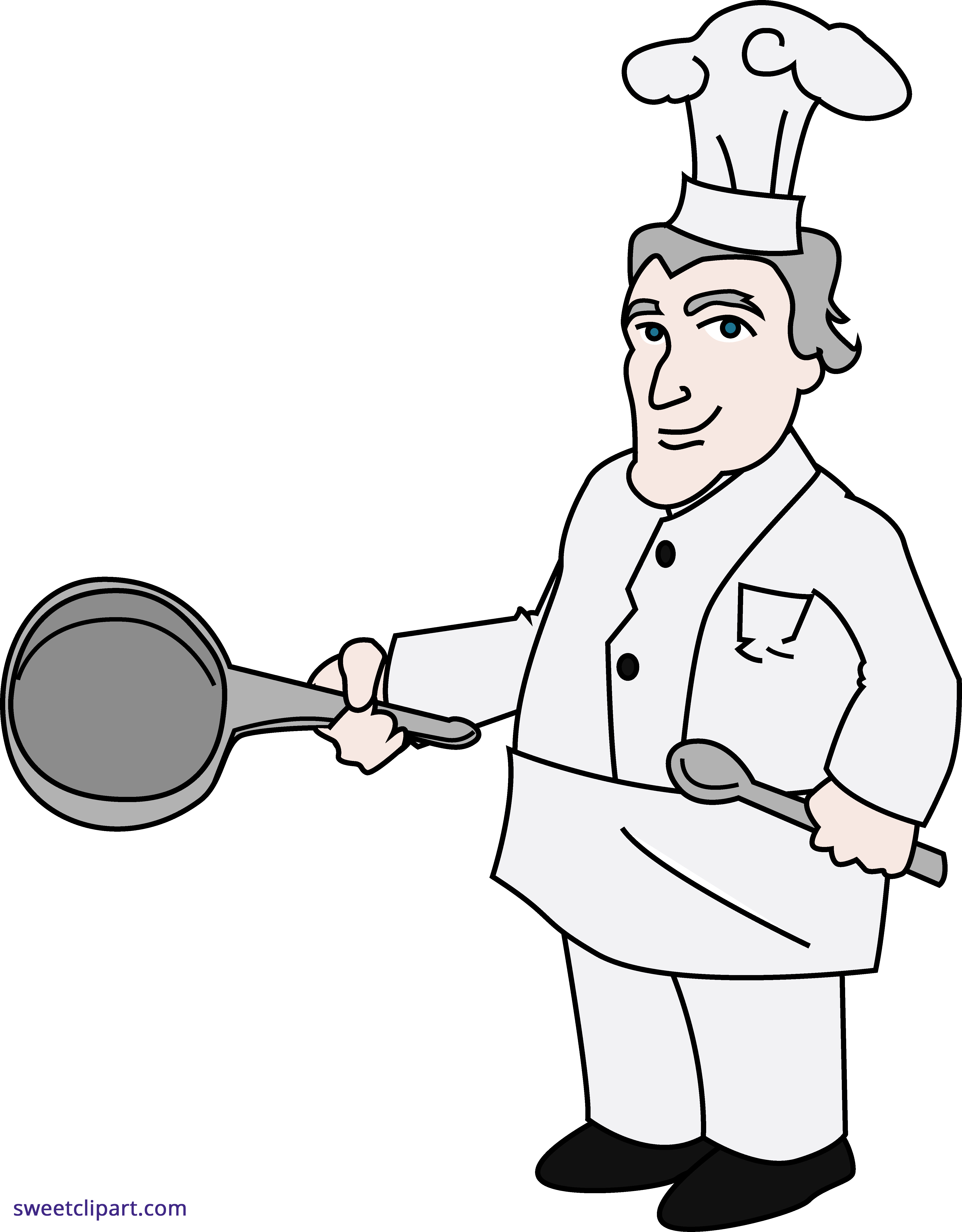 graphic black and white Chef clipart cheaf. Clip art sweet.