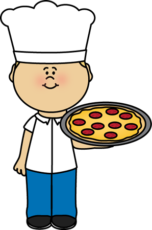 vector black and white download Pizza Chef