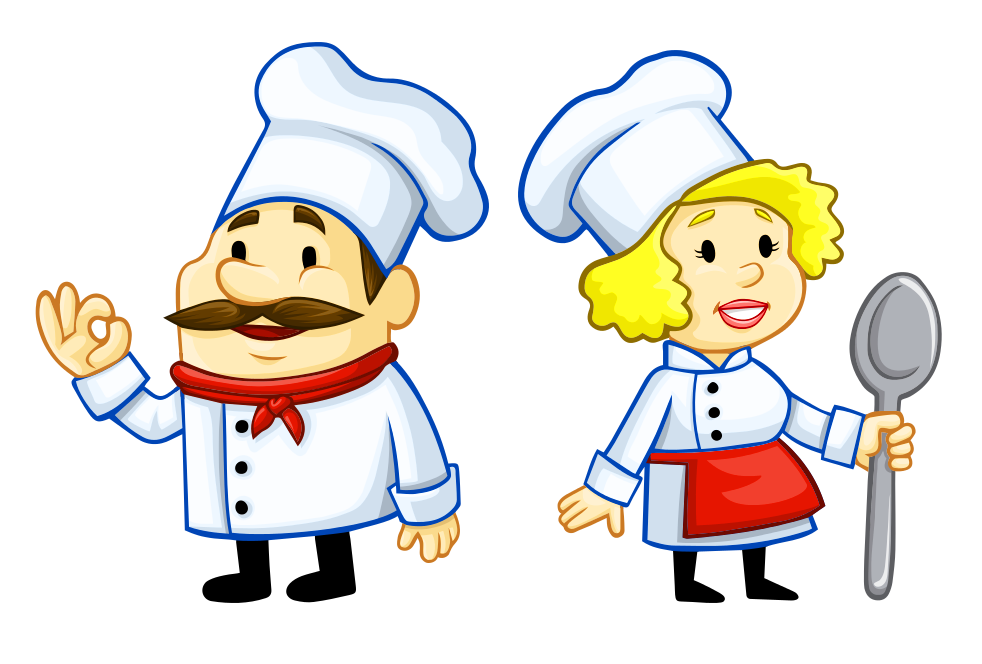 vector black and white library Chef PNG Image