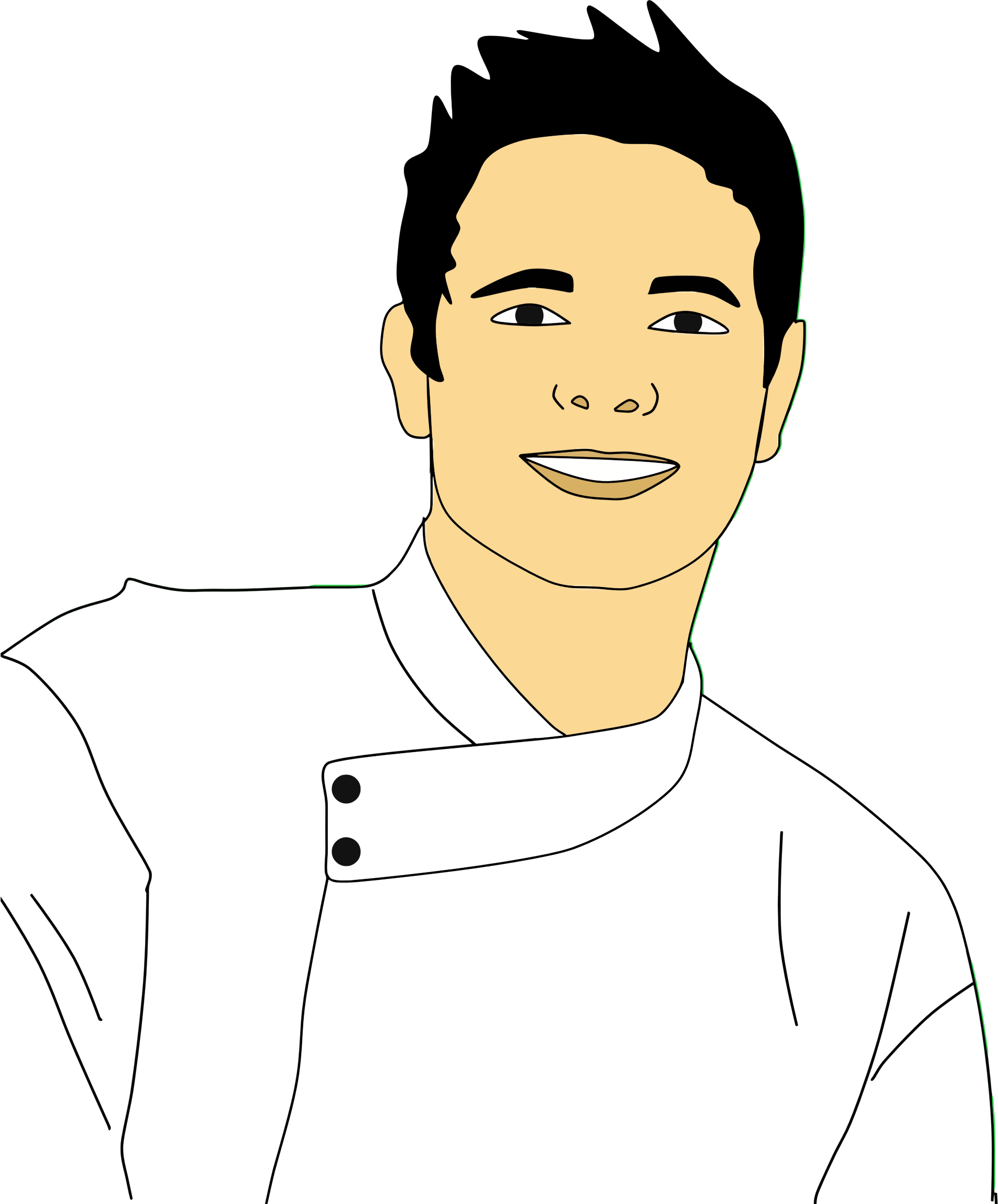 png transparent stock Male clipart man portrait. Chef big image png.