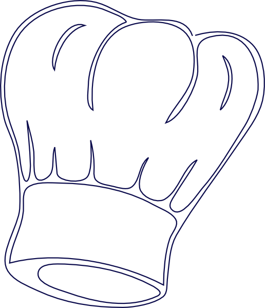 freeuse Outlined Chef Hat Clip Art at Clker