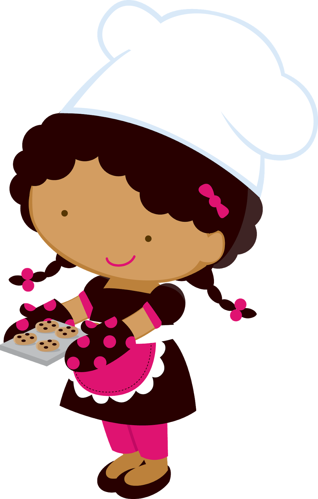 jpg free download Little girl oh my. Chefs clipart.