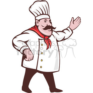 picture black and white download Chef holding out his. Chefs clipart hand