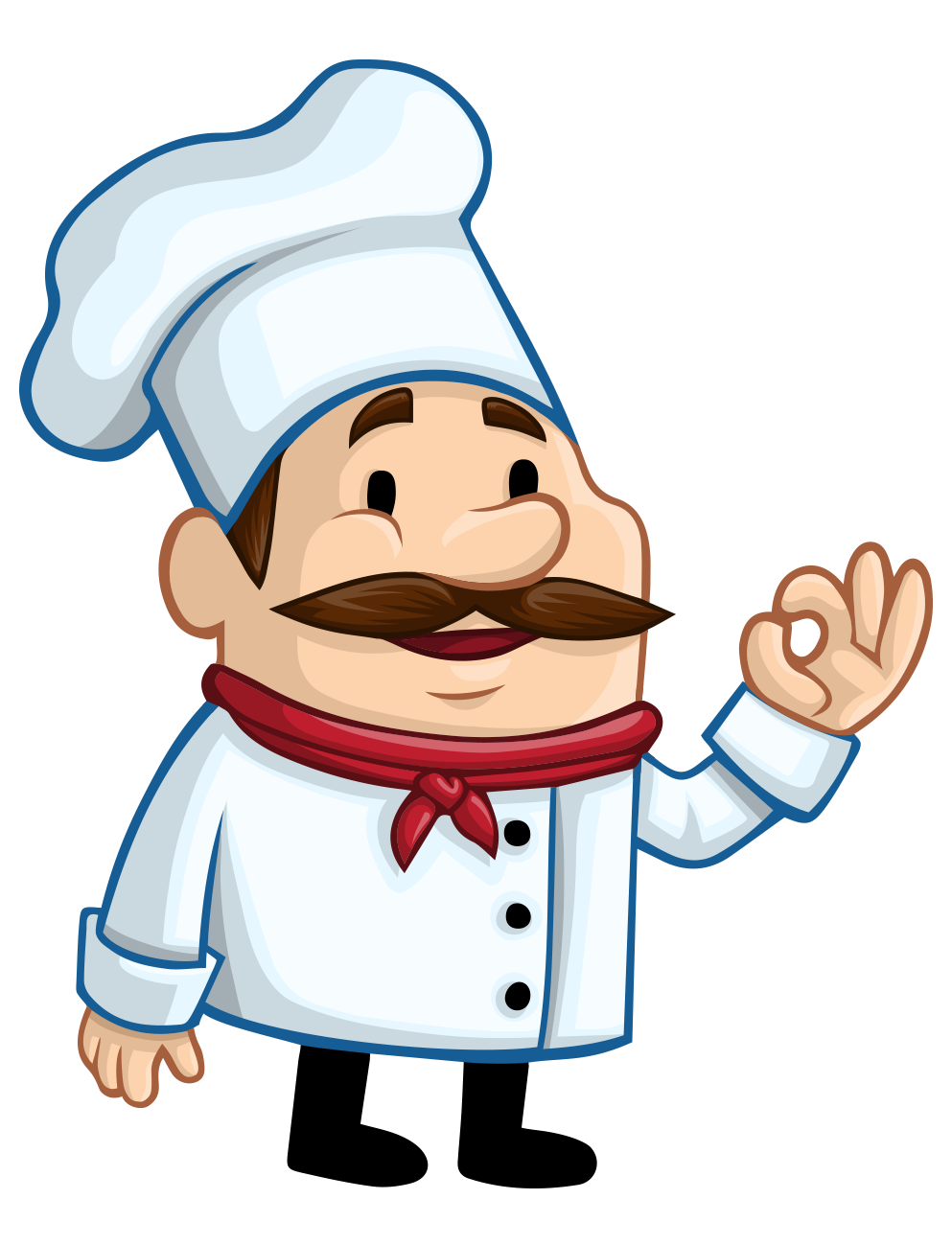 jpg stock Chefs clipart hand. Chef cartoon restaurant illustration