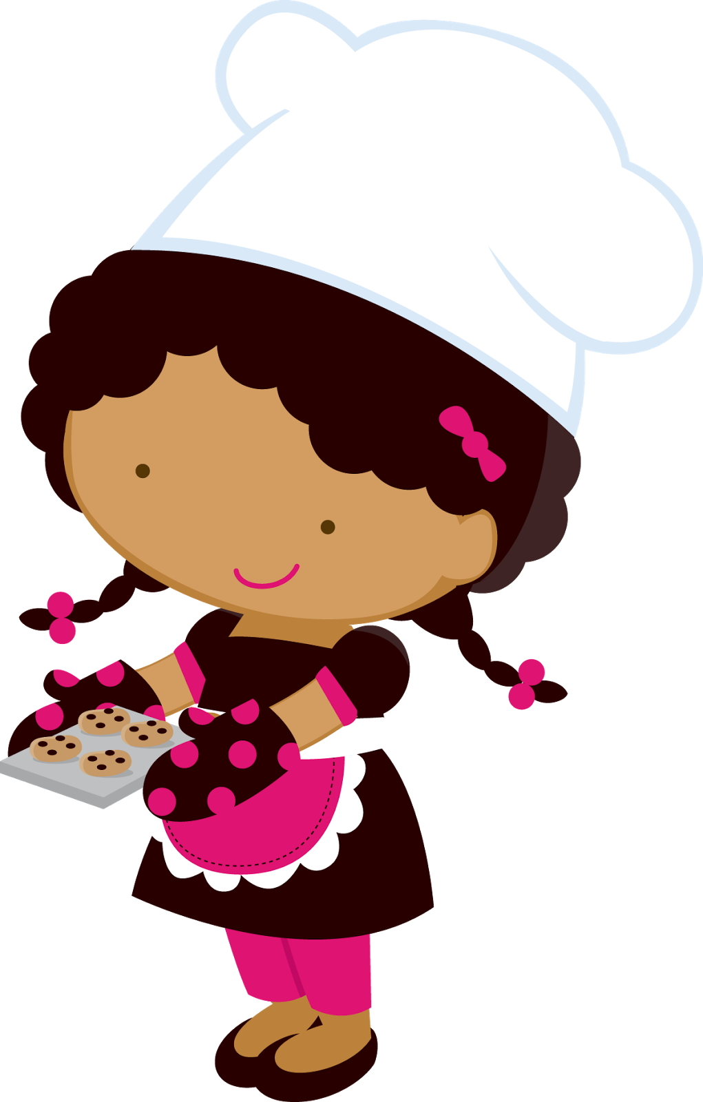 clip art royalty free Little Girl Chefs Clipart