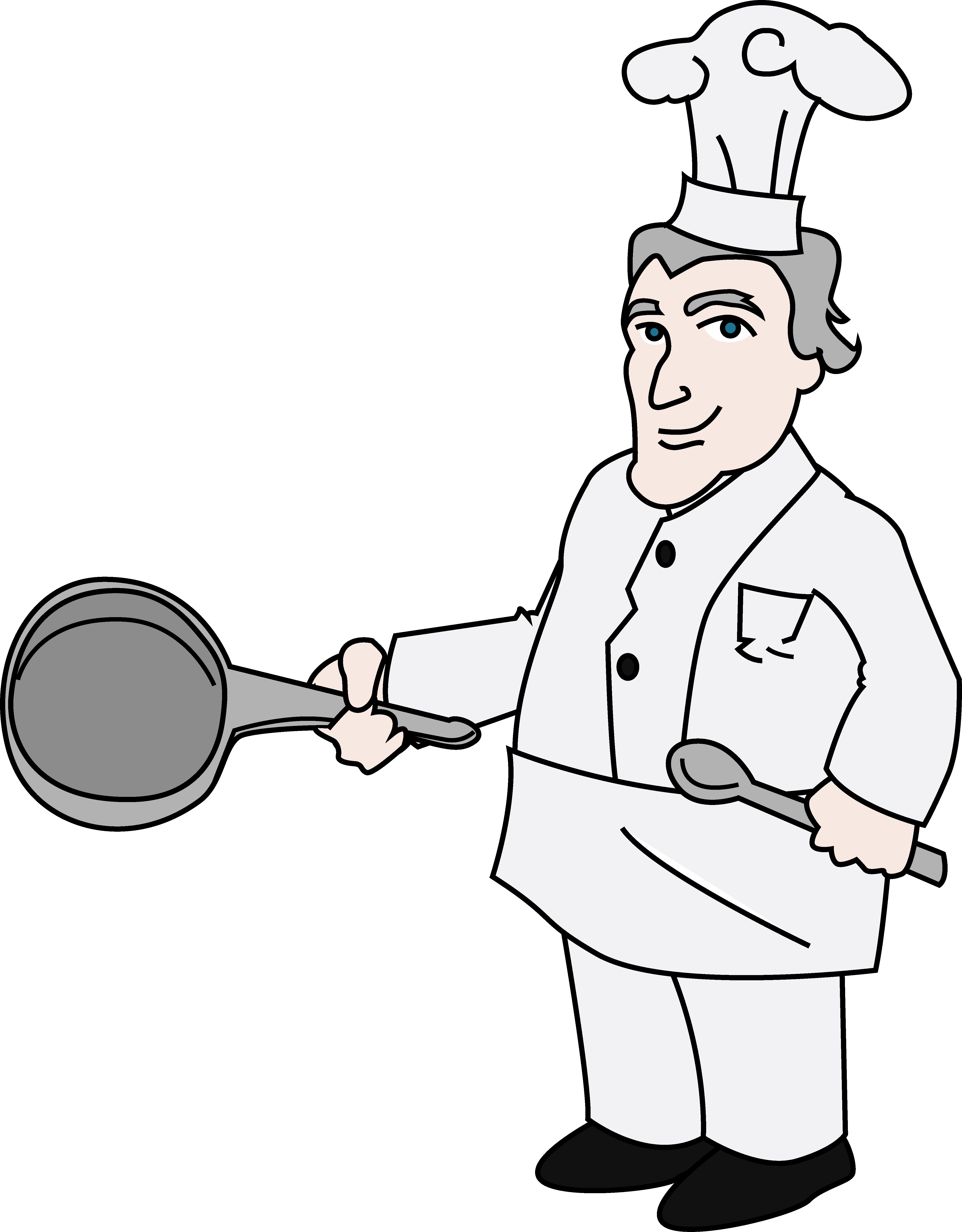clip black and white download Chef illustration free clip. Chefs clipart occupation.