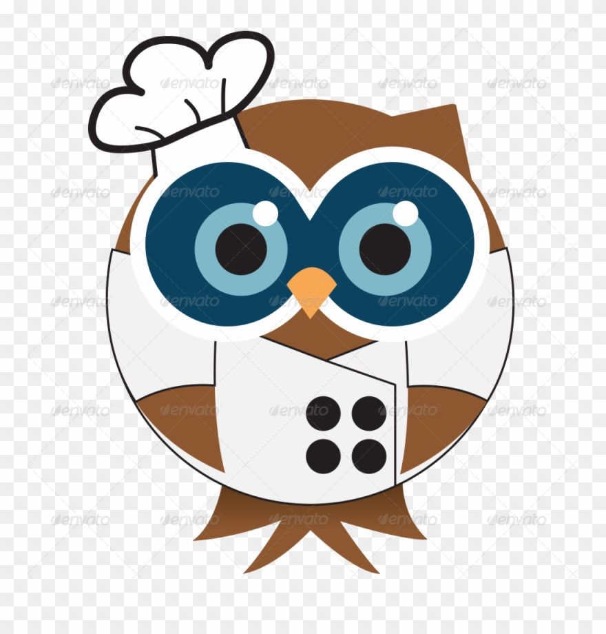 graphic black and white Image royalty free stock. Chefs clipart owl.
