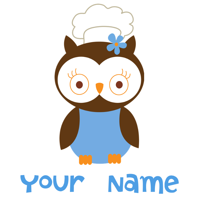banner library stock Personalized chef apron dark. Chefs clipart owl.