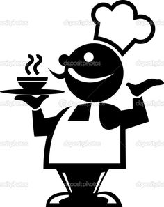 image free library Chefs clipart silhouette. Pinterest .