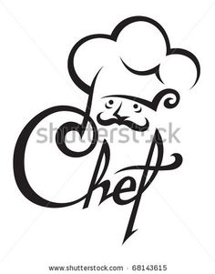 image free library Pinterest . Chefs clipart silhouette.
