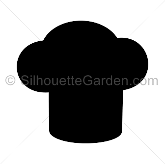 image royalty free download Chef hat clip art. Chefs clipart silhouette.