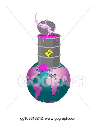 picture royalty free Chemical clipart chemical contamination. Vector stock waste barrel.