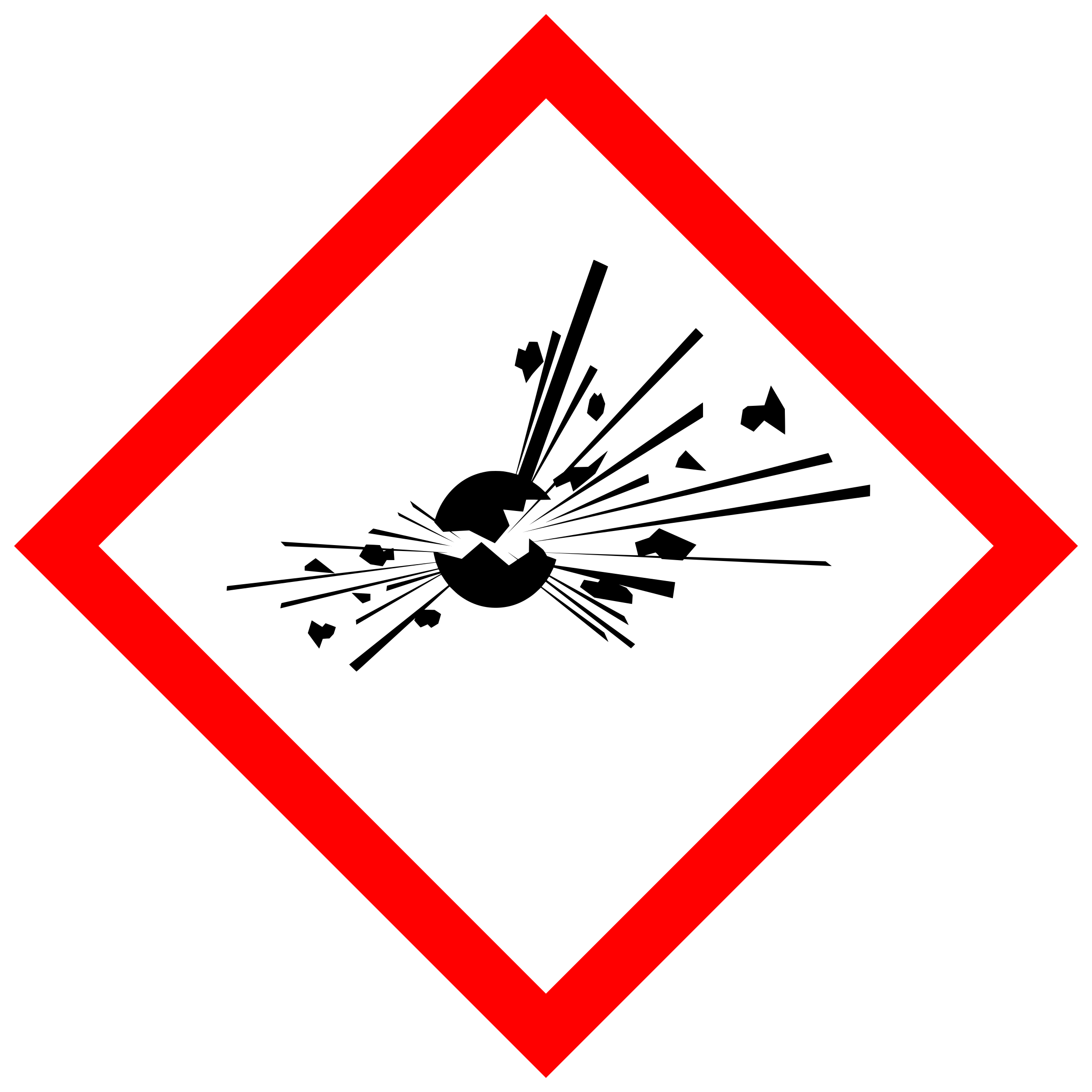 svg black and white Chemical clipart chemical contamination. Ghs pictogram for explosive.