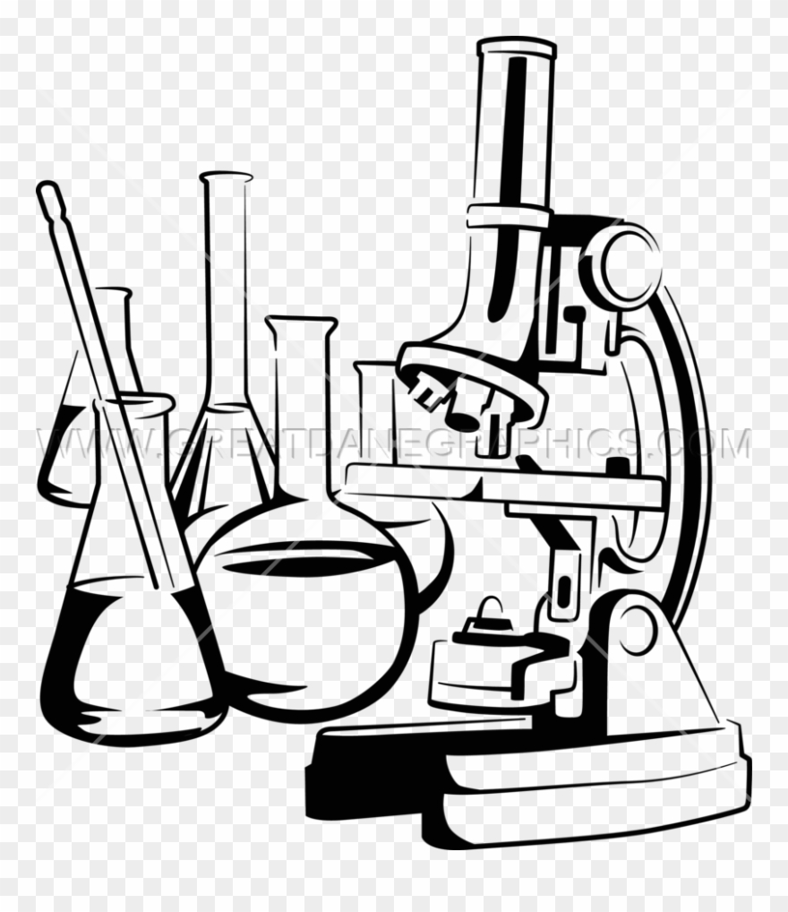 png black and white Chemical clipart nanotechnology. Picture microscope with .