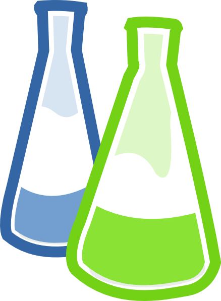 royalty free library Lab materials clipart. Chemistry flasks clip art