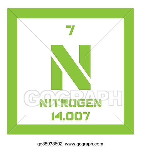 vector royalty free stock Chemicals clipart nitrogen. Vector chemical element .