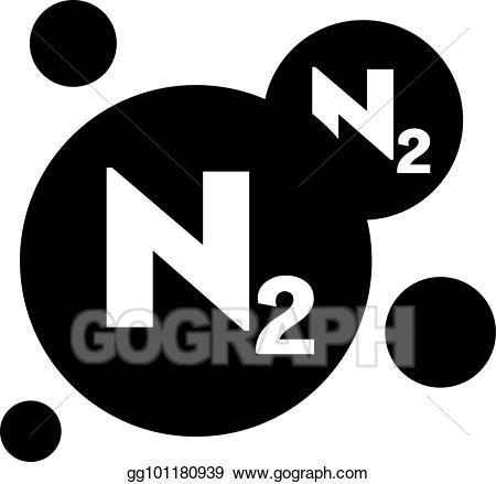 png free stock Vector stock symbol illustration. Chemicals clipart nitrogen.