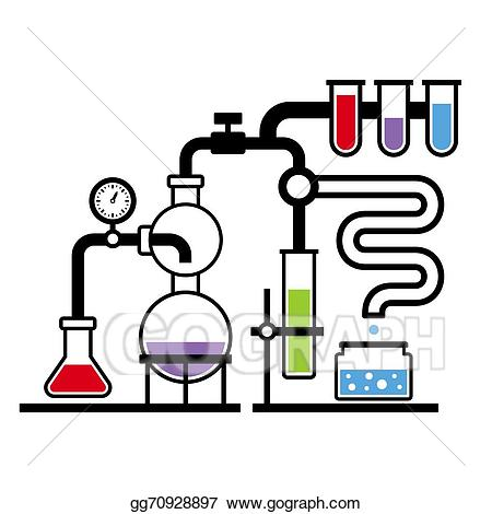 picture stock Eps vector laboratory infographic. Chemistry lab clipart.