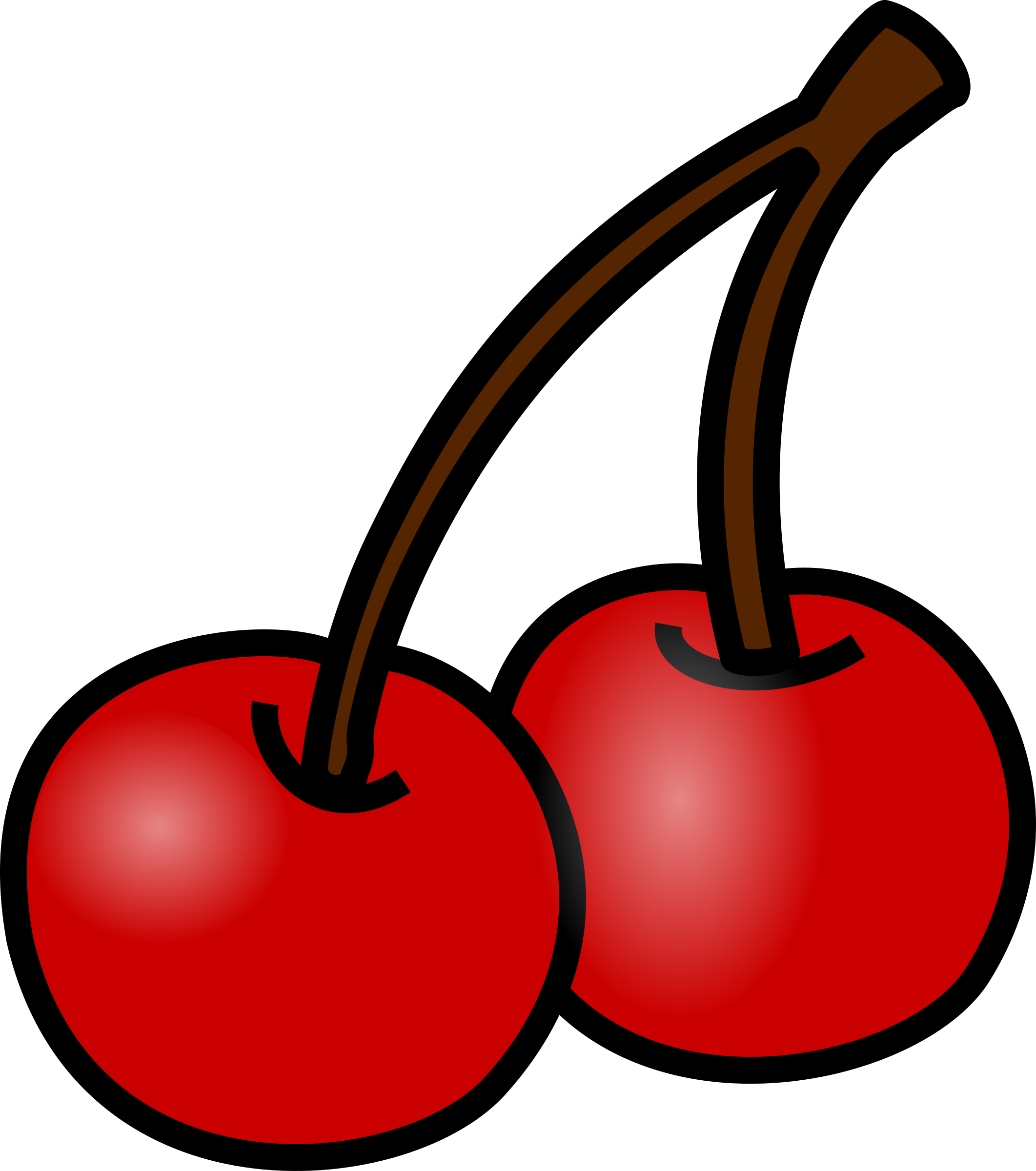png black and white library Cherry big image png. Cherries clipart