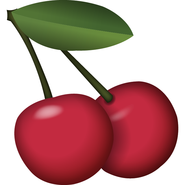 picture black and white Download emoji icon island. Cherries clipart cherry picking.