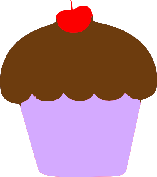 svg free stock Cupcake with cherry clip. Cherries clipart pink dessert.