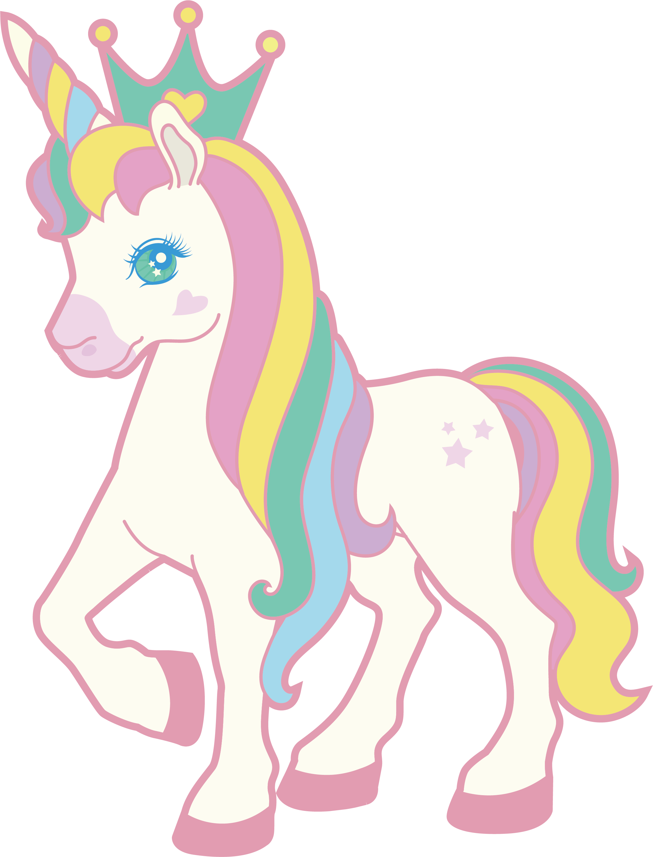 clipart royalty free library Birthday a in the. Cherries clipart unicorn.