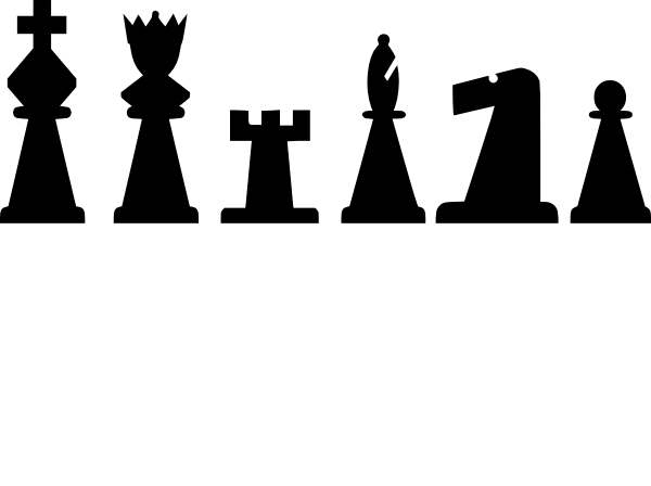 image library Chess clipart. Pieces set clip art.