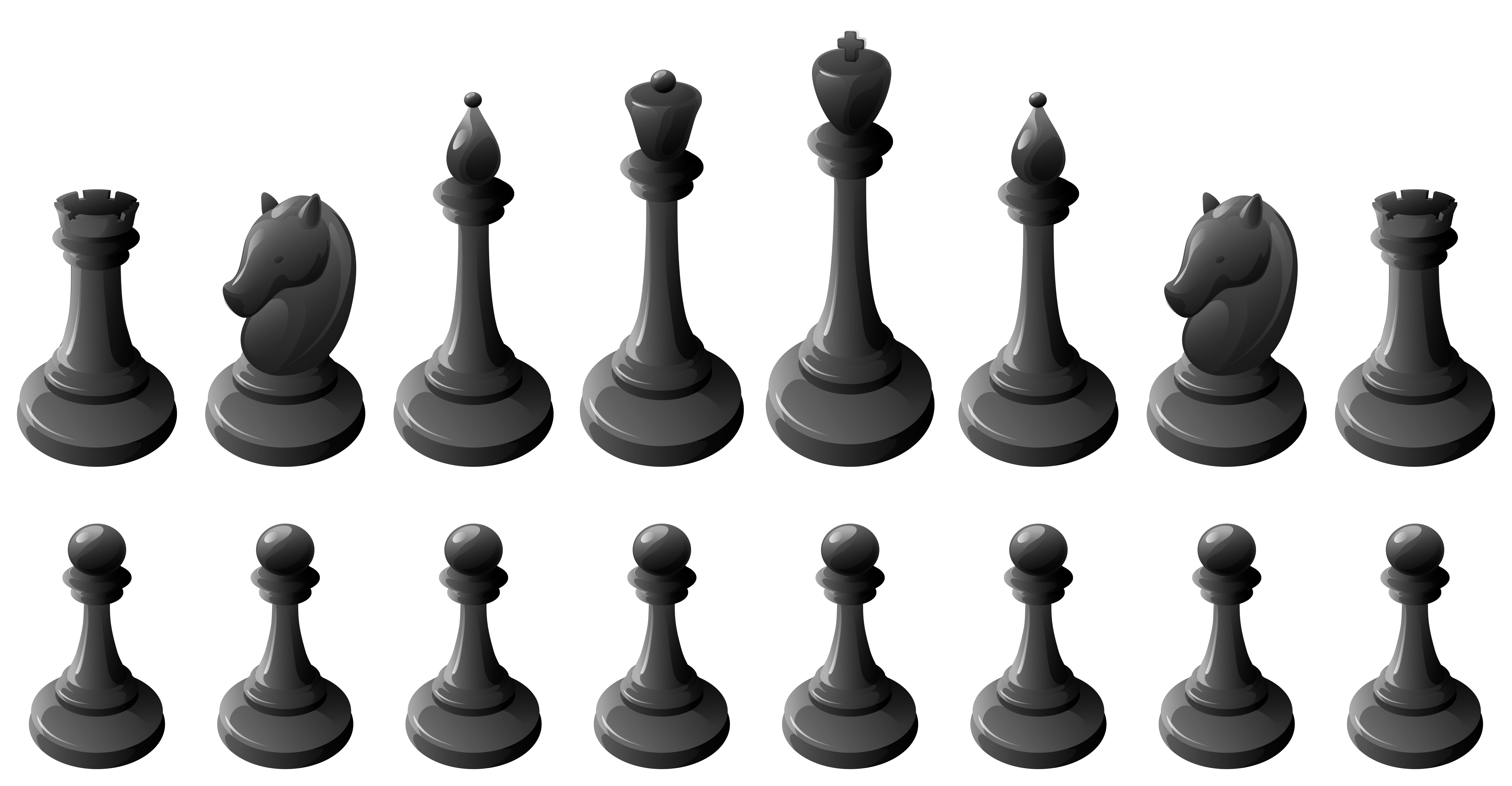 png library stock Black pieces png best. Chess clipart transparent.