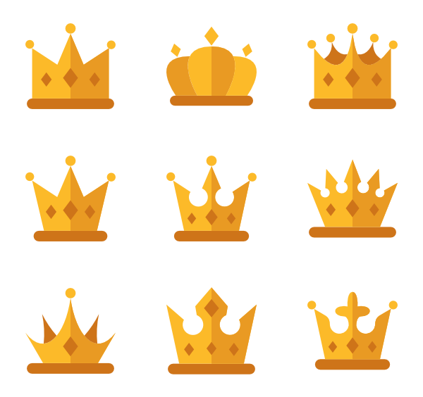 picture freeuse Vector emojis minimalist. Crown icons free