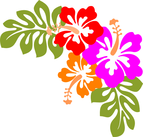 picture black and white download hawaiian themed clip art luau clip art borders free free clipart
