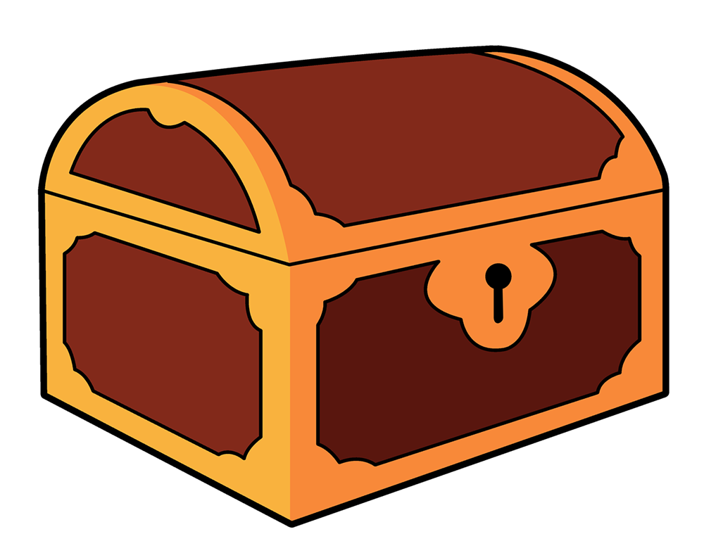 jpg library Cute treasure . Chest clipart