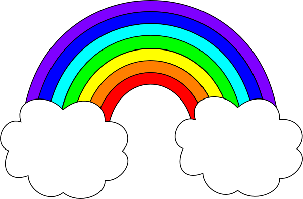 clip art royalty free stock Rainbow clipart. B with clouds clip