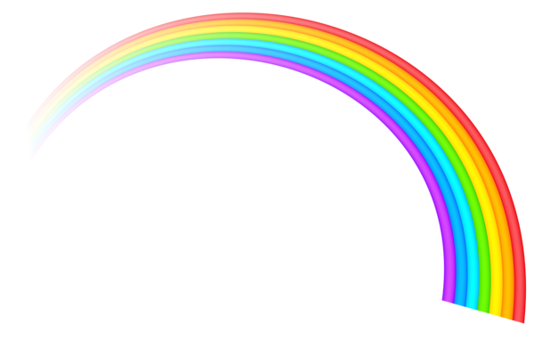 freeuse Rainbow Transparent Clipart Picture